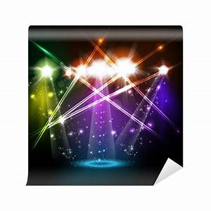 banner neon light stage background for your text Wall