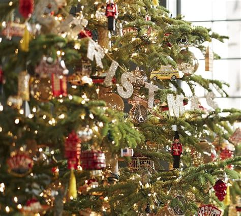 german glitter merry christmas garland pottery barn