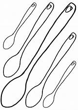 Spoon Coloring sketch template