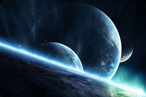 Атмосфера звезды восход Planets поверхность. Обои для