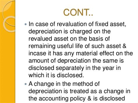 depreciation of fixed asset as 6 depreciation accounting