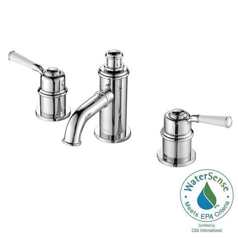 kraus robinet de 8 pouces 224 2 poign 233 es solinder pour salle de bains chrome home depot canada