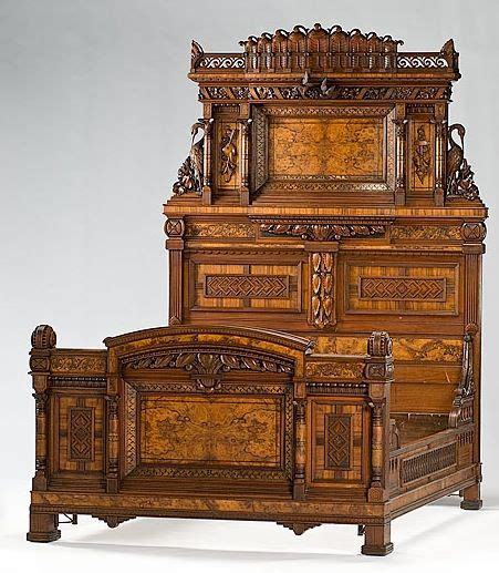 Aera Möbel by Bedstead Carved And Inlayed Renaissance