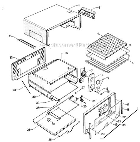 toaster oven parts delonghi xu120 parts list and diagram ereplacementparts