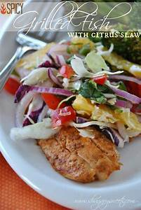Spicy Grilled Fish with Citrus Slaw: a delicious and ...