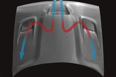 challenger hellcat style carbon fiber hood