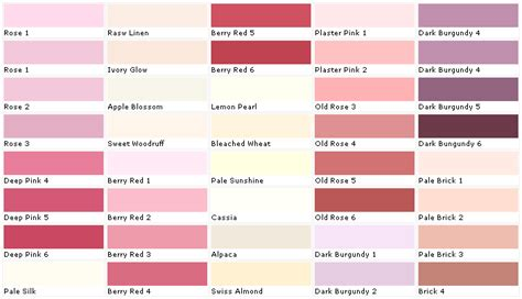 color collection sles swatches paint