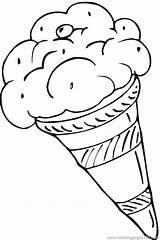 Coloring Pages Dessert Ice Cream Desserts Printable Dibujo Dibujos Disenos Para Colorear 1000 Getcoloringpages sketch template