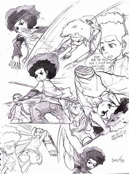 Boondocks Sketches Joodlez Deviantart Concept Examples Favourites