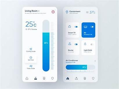 App Smart Ui Dribbble Button Hello Mobile