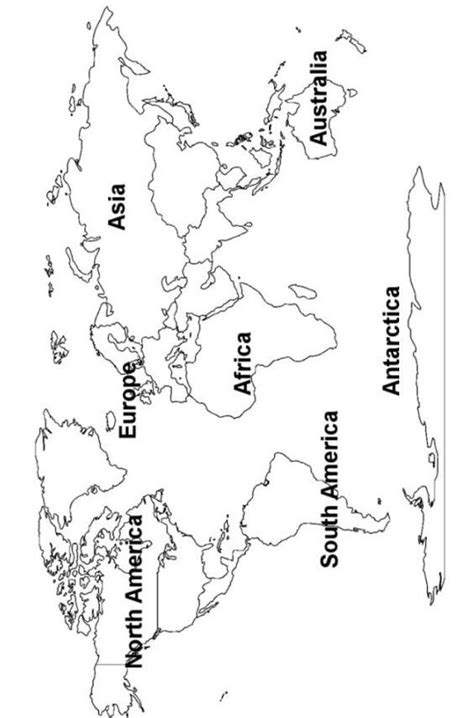 world continents map printout teaching geography social