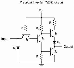 the not gate logic gates electronics textbook With circuit of not gate
