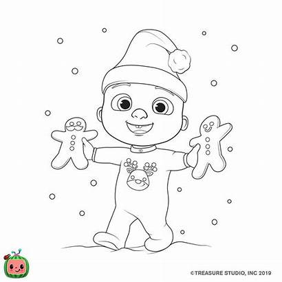 Cocomelon Coloring Jj Nursery Sheets Rhymes Merry