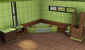 sims3 baraquesasims les salles de bain With carrelage salle de bain bambou