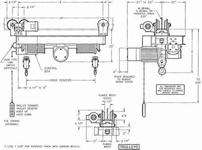 Monorail Drawing Rope Wire Twin Hoist Hook