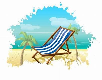 Summer Beach Vector Background Graphics Chair