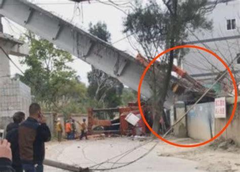 福州在建桥梁倒塌致2死4伤,被压板房疑为中学保安亭 - 国内 - 新京报网