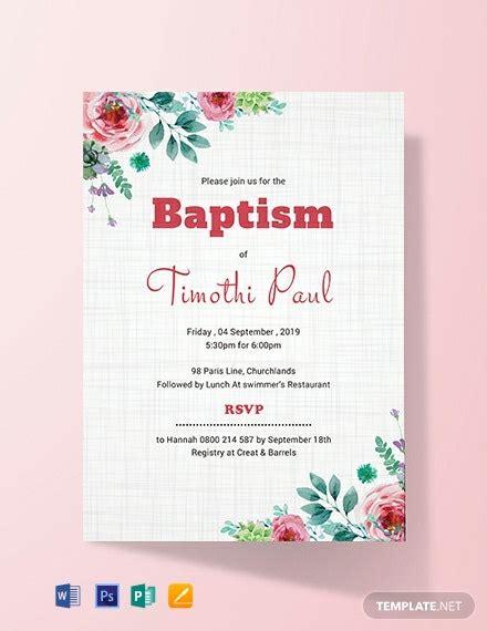 10+ FREE Baptism Invitation Templates Word (DOC) PSD