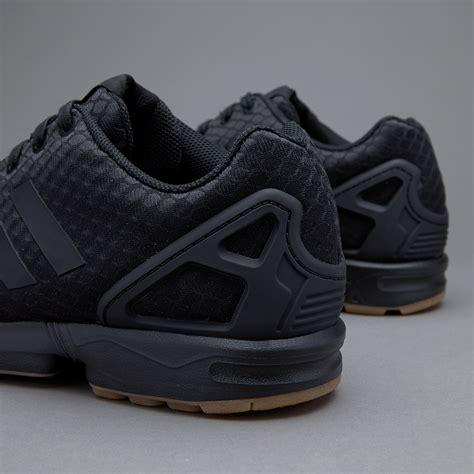 mens shoes adidas originals zx flux core black gum