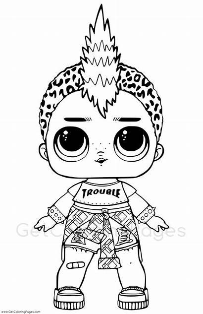 Lol Coloring Pages Boy Doll Punk Boi