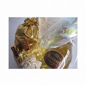 Cadeau Noce D Or : id e panier cadeau anniversaire de mariage noces d 39 or belgique ~ Teatrodelosmanantiales.com Idées de Décoration
