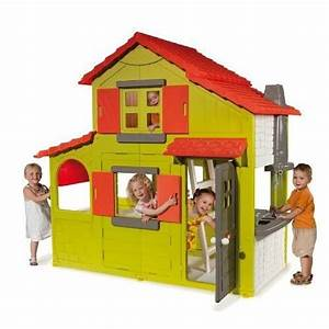 Cabane Enfant Plastique : smoby maison enfant duplex verte achat vente maisonnette ext rieure cdiscount ~ Preciouscoupons.com Idées de Décoration