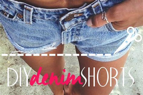 Turning Jeans Into Shorts Diy Cut Offs