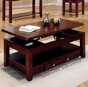 new lift top storage cocktail coffee table cherry finish With lift top coffee table with end tables