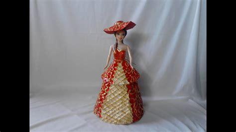 diy maniqui joyero con material reciclado joyero dama elegante diy hecho de papel youtube