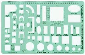 Timely Furniture  1 4  Scale    Templates and stencils    Drafting      Architectural Furniture Templates