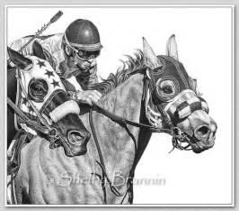 Race Horse Pencil Drawings