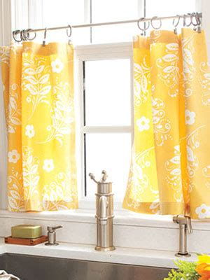 kitchen curtains diy cafe curtains