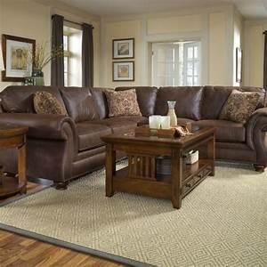 Broyhill laramie microfiber 2 piece sectional sofa 5080 for Broyhill laramie microfiber 2 piece sectional sofa
