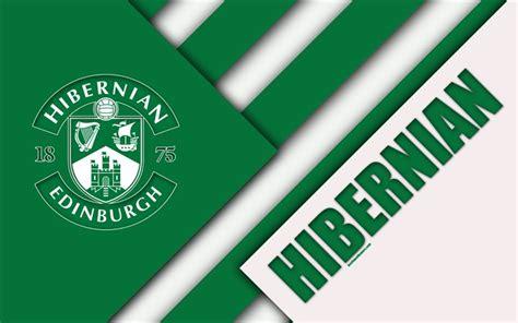 Download wallpapers Hibernian FC, 4k, material design ...