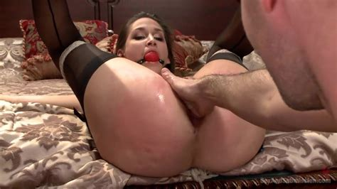 Pussy Fisting And Ass Fucking For A Tied Hottie Slave