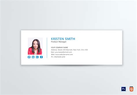 Email Signature Template Professional Product Manager Email Signature Design