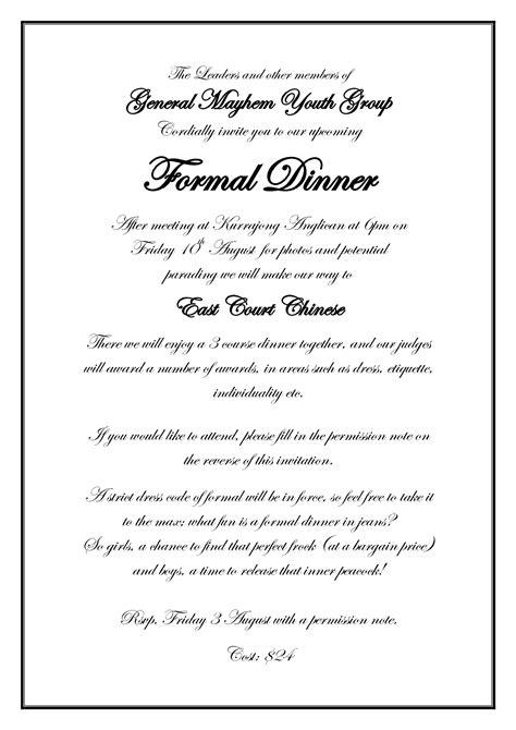 Best Photos Of Formal Dinner Invitation Wording Formal
