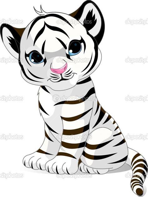 tigercubcoloringpages cute white tiger cub stock