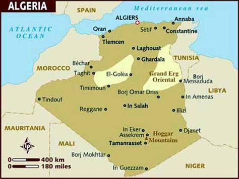 Carte Algerie Villes by Cartes De Alg 233 Rie Cartes Typographiques D 233 Taill 233 Es Des