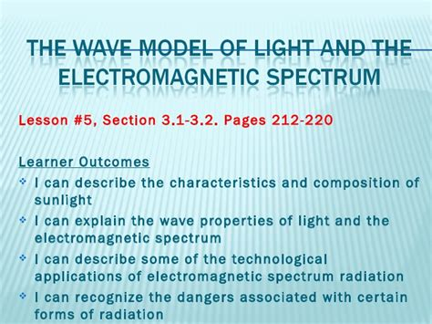 lesson 5 3 light and atomic emission spectra science8 unit c lightand optics lesson5 the wave modelof light