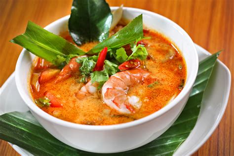 most cuisines tom yum the spicy and sour soup of and laos