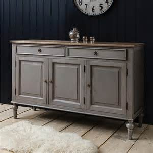 kitchen sideboard ideas painted grey sideboard with wooden top by primrose plum notonthehighstreet com