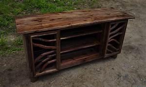 Made Com Sideboard : hand made rustic walnut wood tv media entertainment center ~ Michelbontemps.com Haus und Dekorationen