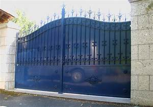 Portail Fer Forgé Plein : portail portillon en fer int gr selon mesures collection ~ Dailycaller-alerts.com Idées de Décoration