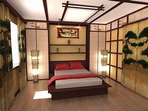 Ceiling design ideas in japanese style for Japanese bedroom