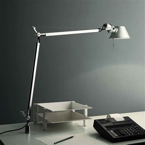 Tolomeo Desk L Led by Artemide Tolomeo Tavolo Led Table L With Fixed Support