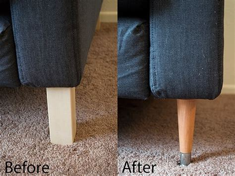 replacing ikea karlstad sofa legs sunroom pinterest