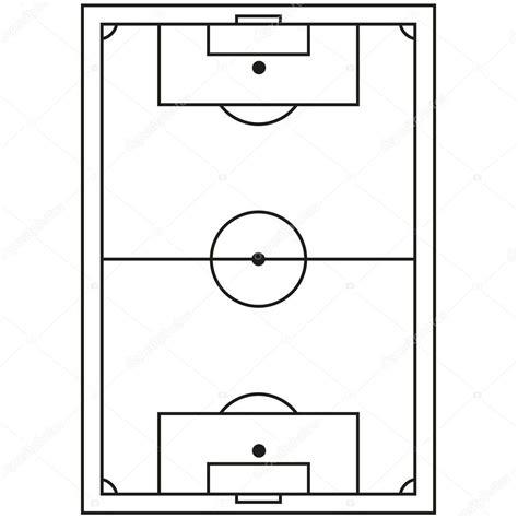 icone de campo de futebol preto  branco de arte linha