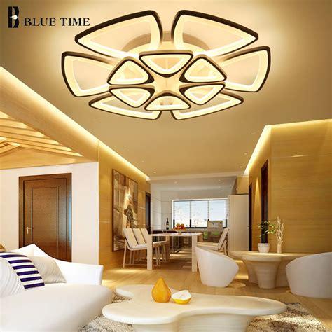 white modern led chandelier  living room dining room