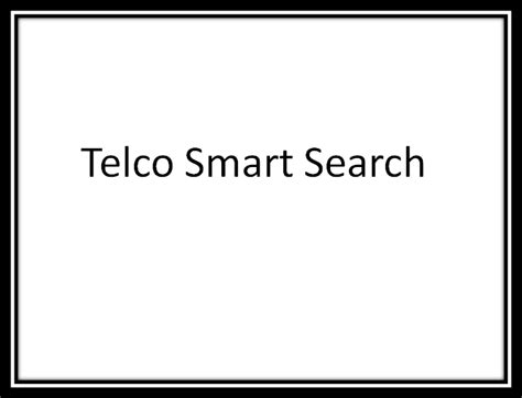 telco data melissa data  telco smartsearch